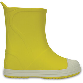 Crocs Bump It Botas Niños, yellow/oyster